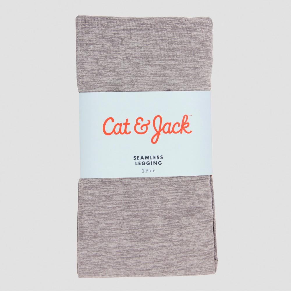 Girls' Seamless Leggings - Cat & Jack Gray 12-14