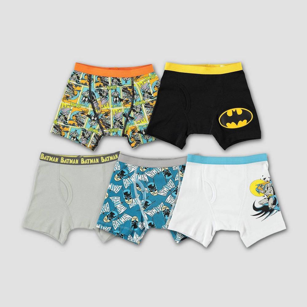 Image of Boys' 5pk DC Comics Batman Classic Briefs - 8, Boy's, MultiColored