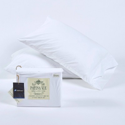 King Sheet Set with Antimicrobial Protection White - Patina Vie