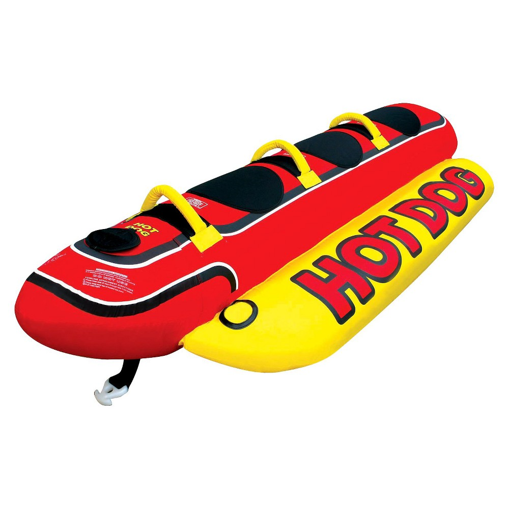 Image of Airhead Hot Dog Towable - Red/Black/Yellow