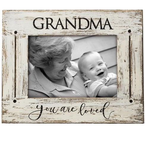 Cream Grandma You Are Loved 5 X 7 Inch Distressed Wood Picture Frame Foreside Home Garden Target