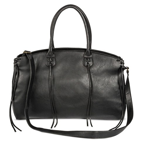 Women S Weekender Faux Leather Handbag Black Mossimo Supply Co