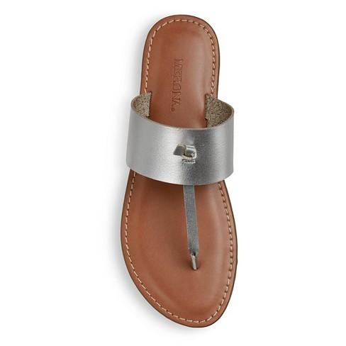 29ac50ad4960 Women s Malia Thong Sandals - Merona™ Silver 11   Target