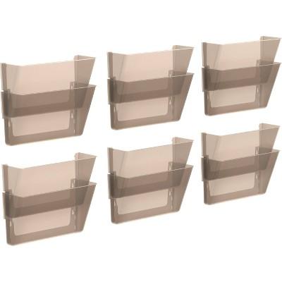 Storex 12pk Snap & Stack Wall File Pockets - Gray