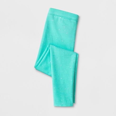 dbb42361e Toddler Girls' Leggings - Cat & Jack™ Teal Glitter : Target
