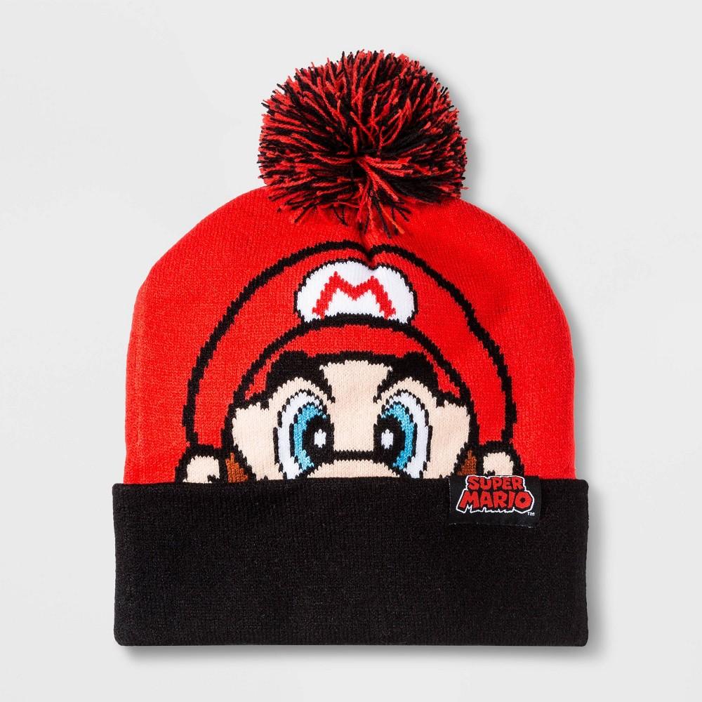 Image of Boys' Nintendo Mario Beanie - Red One Size, Boy's