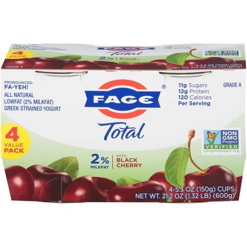 FAGE Total 2% Milkfat Black Cherry Greek Yogurt - 4pk/5.3oz cups - image 1 of 1