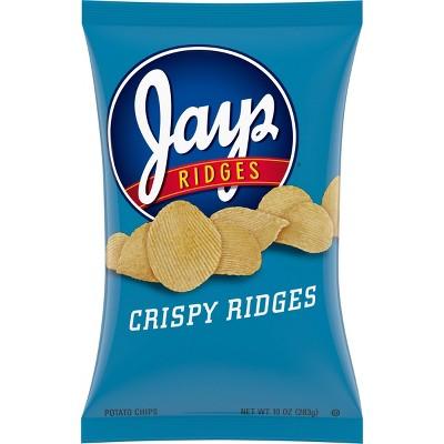 Jays Crispy Ridges Potato Chips - 10oz