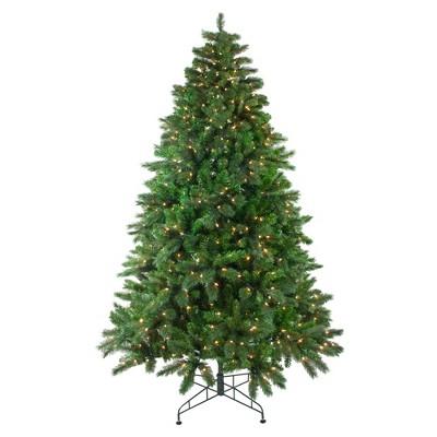Northlight 7.5' Prelit Artificial Christmas Tree Medium Mixed Scotch Pine - Clear Lights