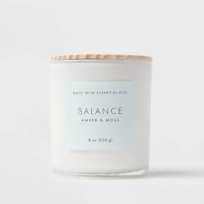 Wood Lidded Glass Wellness Balance Candle - Project 62™
