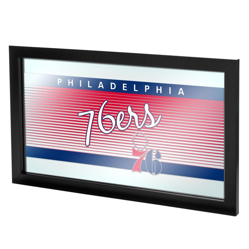 Philadelphia 76ers Team Logo Wall Mirror, Multicolored
