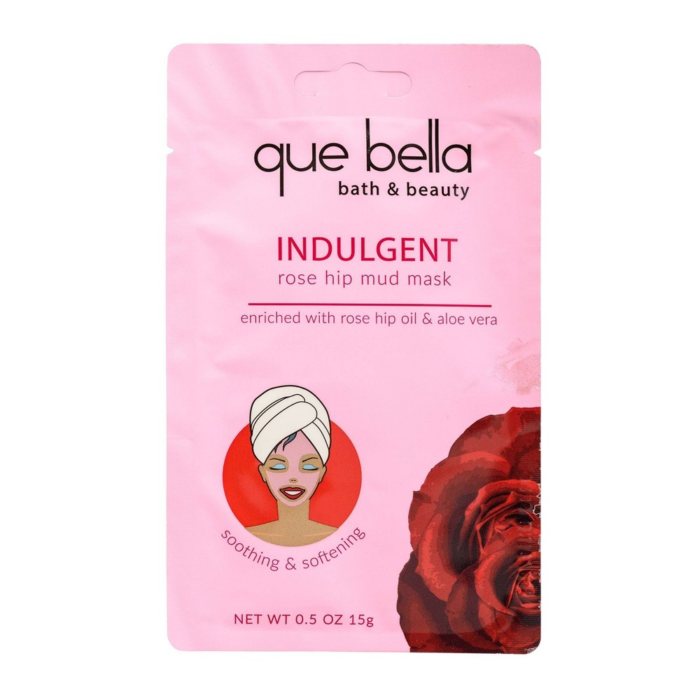 Image of Que Bella Indulgent Rose Hip Oil Mud Face Mask - 0.5oz