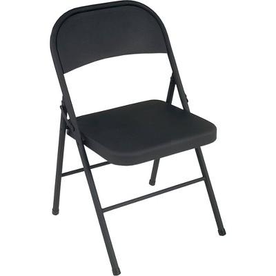 4pk All Steel Folding Chair Black - Room & Joy