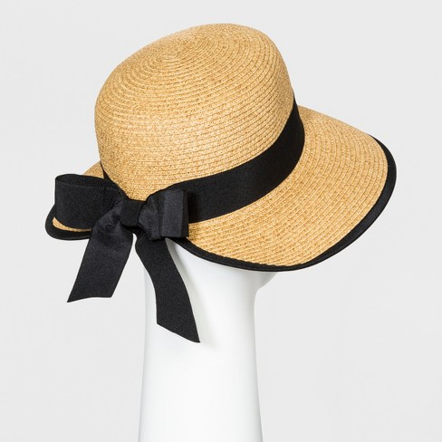 9e1e1cce Women's Backless Floppy Hat With Bow - A New Day™ Natural : Target