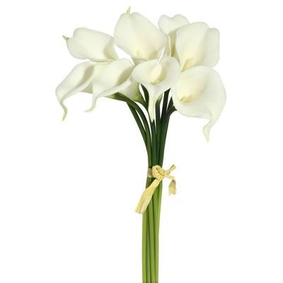 "Artificial Lily Plant (14"") White - Vickerman"