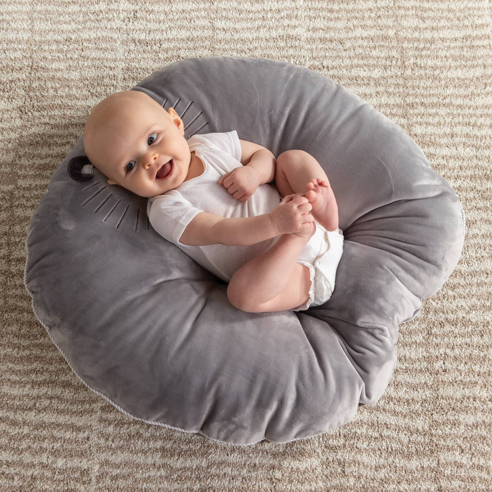 Image of Boppy Luxe Newborn Lounger - Royal Lion, Gray