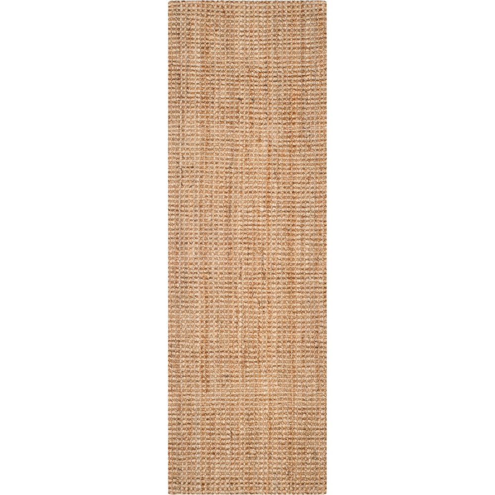 2'3X21' Solid Woven Runner Brown - Safavieh, White