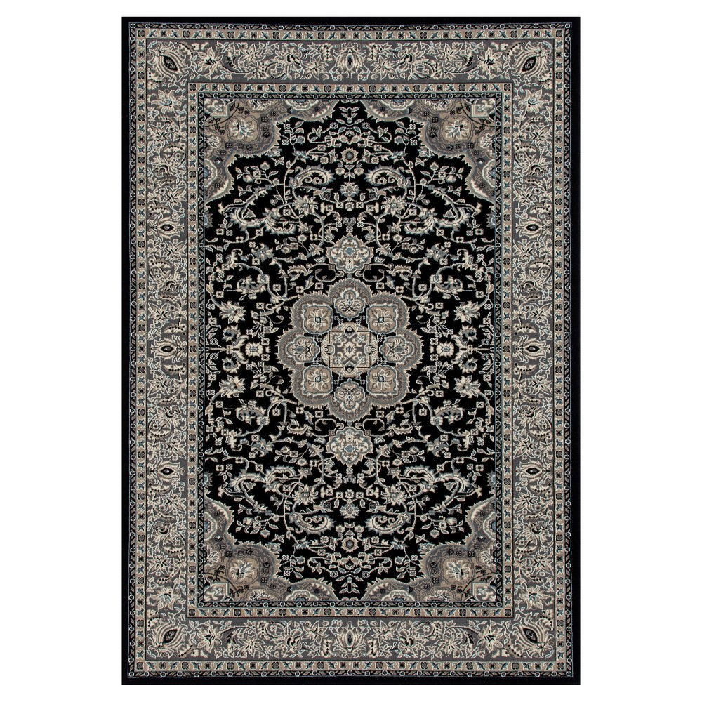 Image of Black Classic Woven Area Rug - (5'X8') - Art Carpet