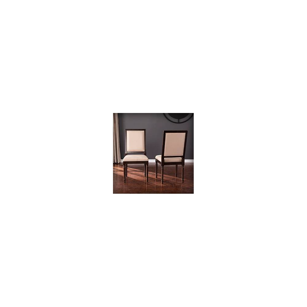 Image of 2pc Earlstan Upholstered Dining Chairs Brown - Aiden Lane