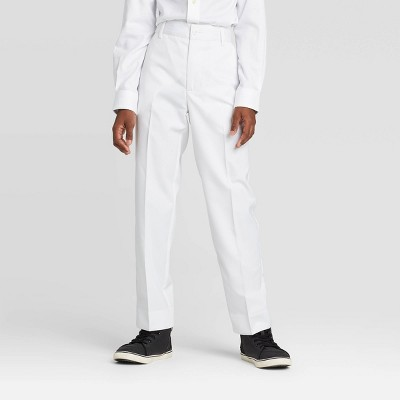 Oxford Boys' Suiting Tuxedo Pants - White