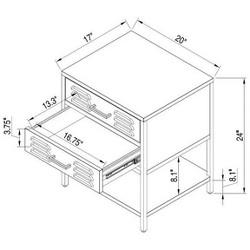 2 Drawer Locker Kids Nightstand - Pillowfort™