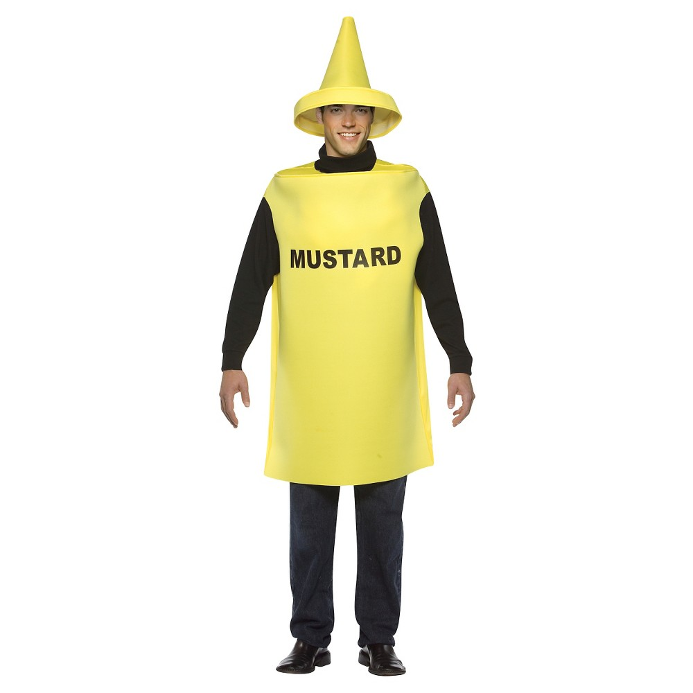 Adult Lightweight Mustard (Yellow) Costume One Size, Adult Unisex