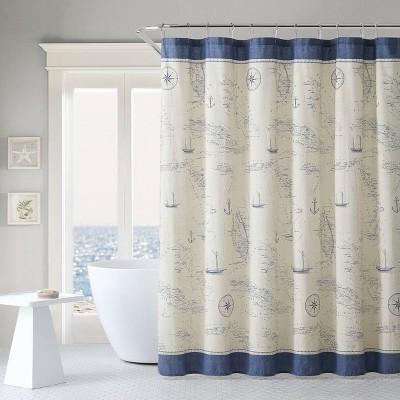 Caribbean Sea Shower Curtain Blue - Tommy Bahama