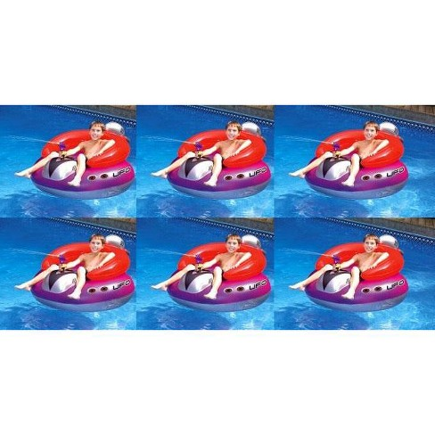 Swimline 9078 Swimming Pool UFO Squirter Toy Inflatable Lounge Chair Floats (6) - image 1 of 2