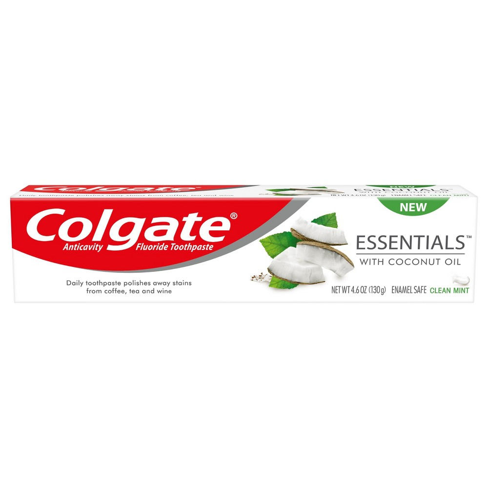 Image of Colgate Essentials with Coconut Oil Toothpaste - 4.6oz