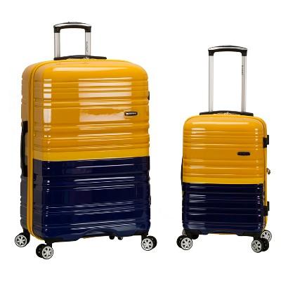 Rockland Melbourne 2pc Expandable Hardside Luggage Set - Navy/Yellow