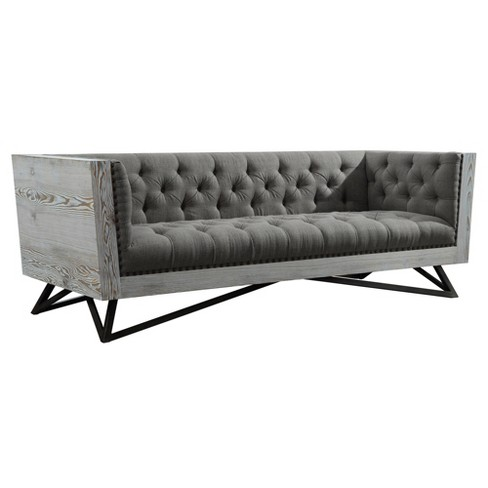 Armen Living Regis Contemporary Sofa Gray