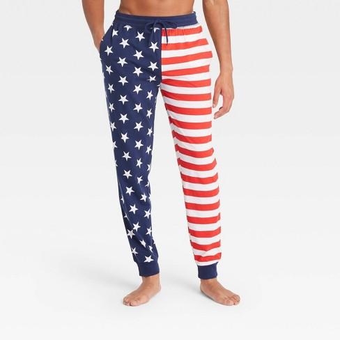 Men's Americana Lounge Jogger Pajama Pants - Red/White/Dark Blue - image 1 of 2