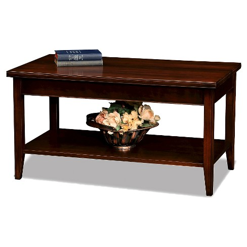 Laurent Condo/Apartment Coffee Table Chocolate Cherry Finish - Leick Furniture - image 1 of 6