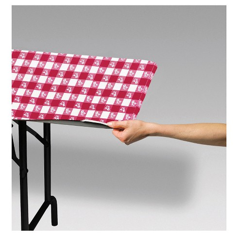 "Stay Put Tablecover Red Gingham, 29"" x 72"" - image 1 of 2"