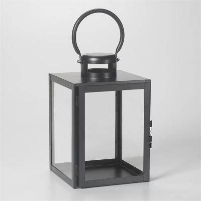 "11"" Huntington Metal Outdoor Lantern Black - Smart Living"