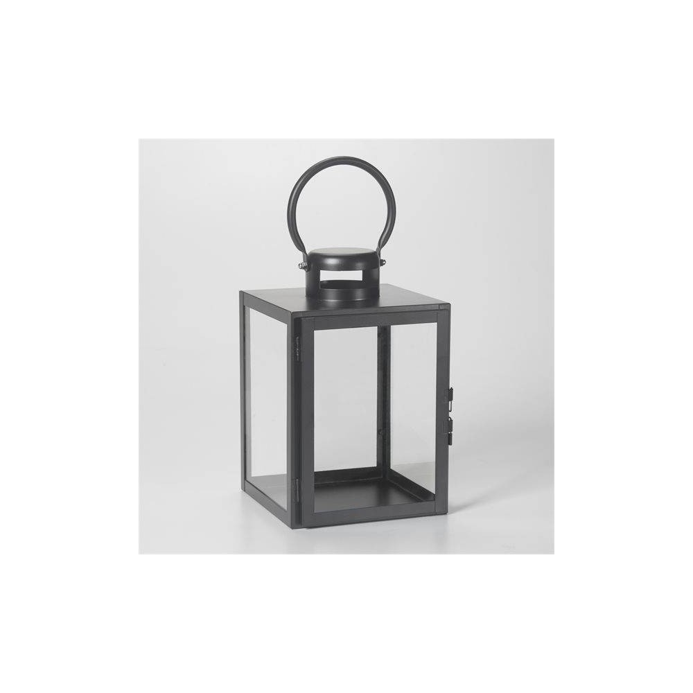"Image of ""11"""" Huntington Metal Outdoor Lantern Black - Smart Living"""