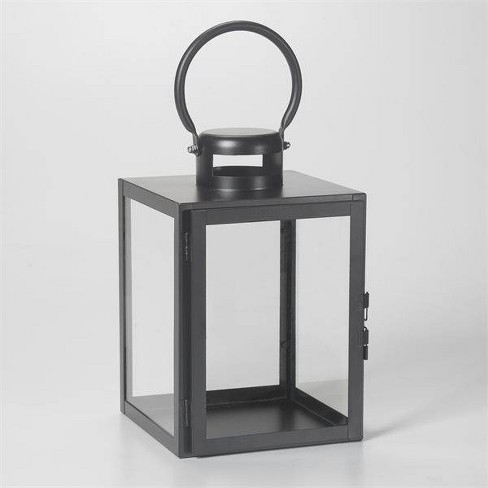 "11"" Huntington Metal Outdoor Lantern Black - Smart Living - image 1 of 4"