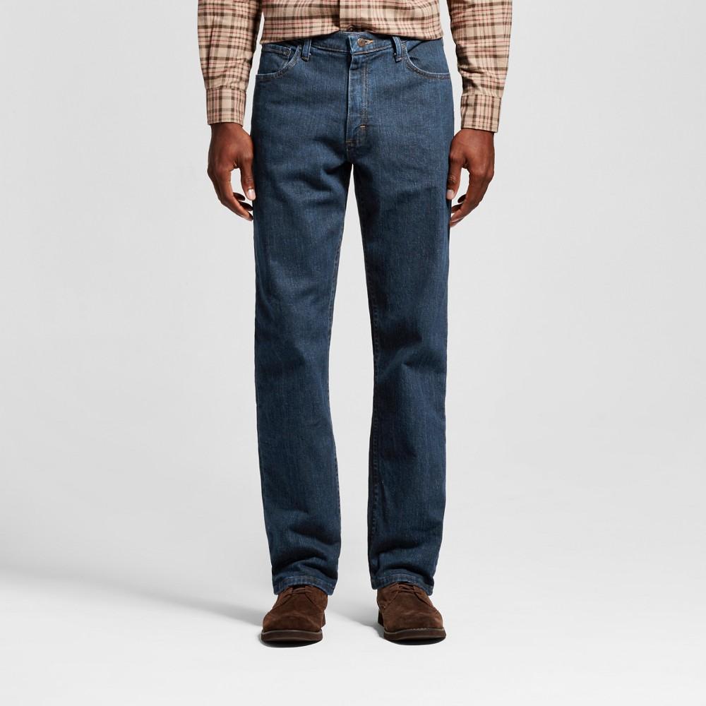 Wrangler Men's Advanced Comfort Relaxed Fit Jeans Dark Indigo (Blue) 42x34