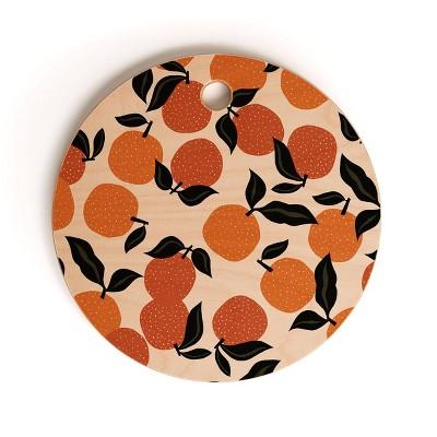"13"" Wood Alisa Galitsyna Orange Garden Cutting Board - society6"