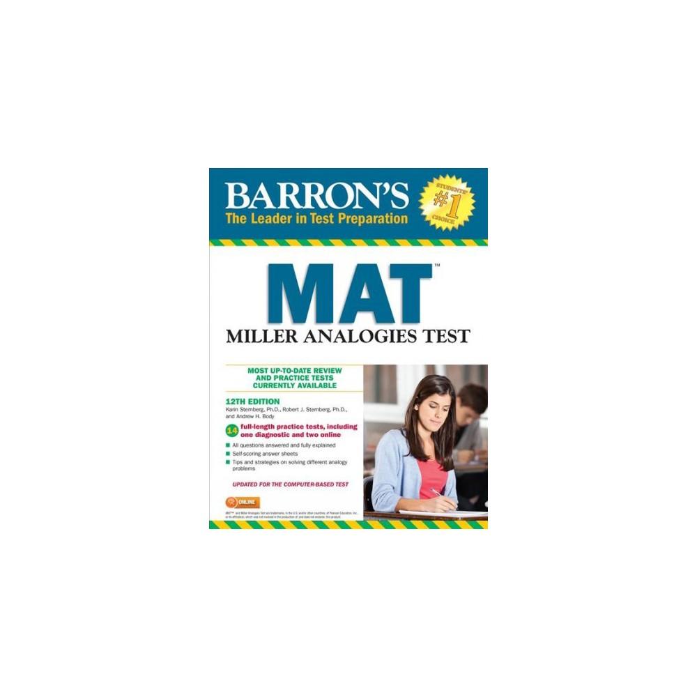 Barron's Mat : Miller Analogies Test - (Paperback)