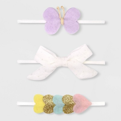 Baby Girls' 3pk Butterfly and Bow Headband - Cat & Jack™