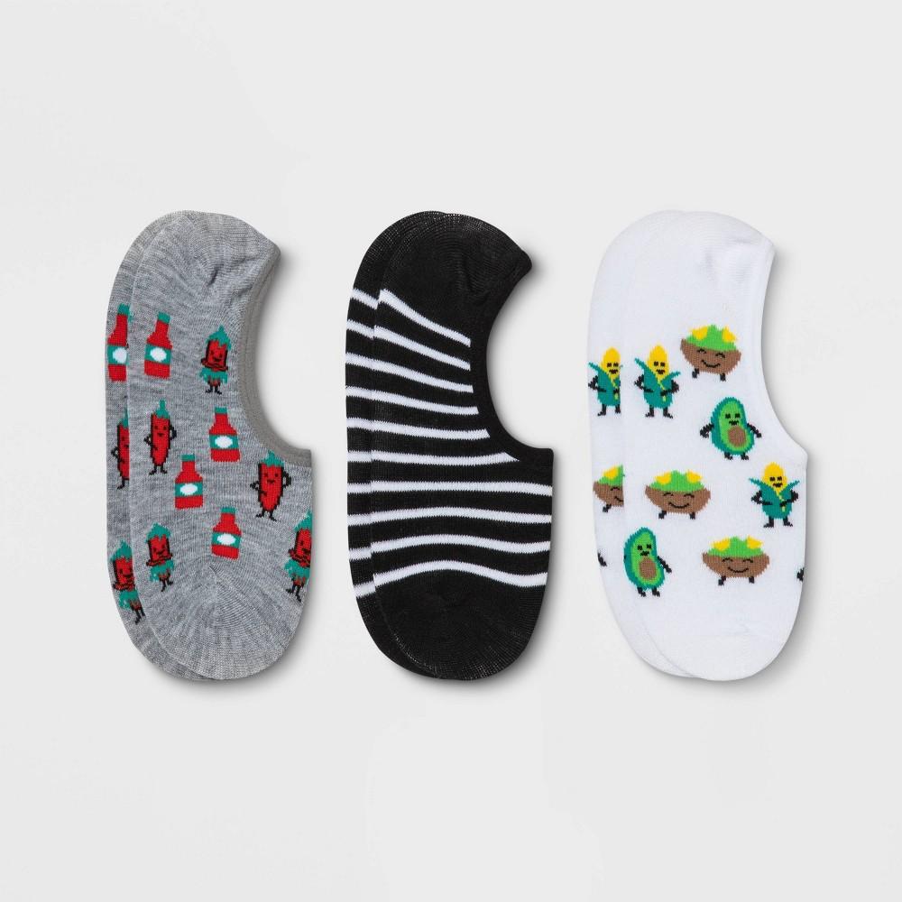 Women 39 S Avocado 38 Chili 3pk Liner Socks Xhilaration 8482 White Black Heather Gray 4 10