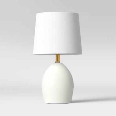 Casual Ceramic Table Lamp White (Includes LED Light Bulb) - Threshold™