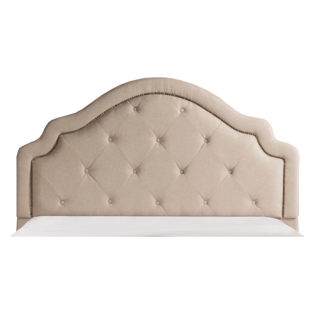 Belize Upholstered Headboard Queen Headboard Frame Included Oyster - Hillsdale Furniture