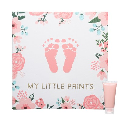 Pearhead Babyprints Floral Unframed Wall Art Canvas Kit - White