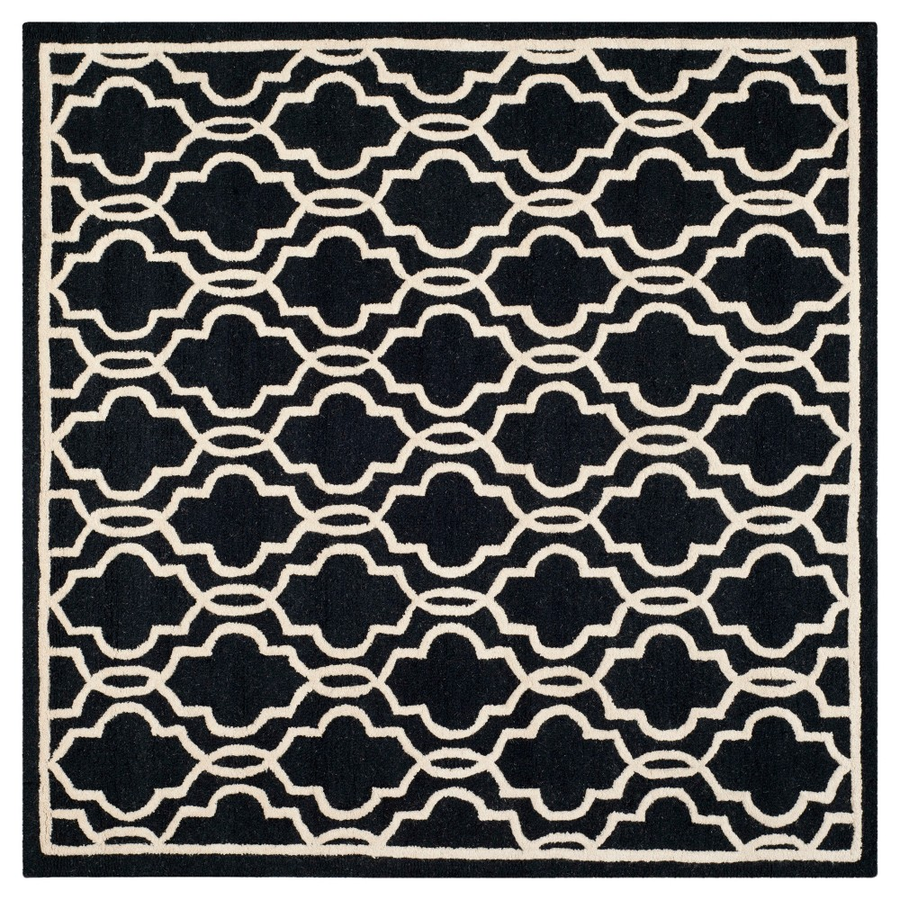 Langley Textured Area Rug - Black/Ivory (6'x6' Square) - Safavieh