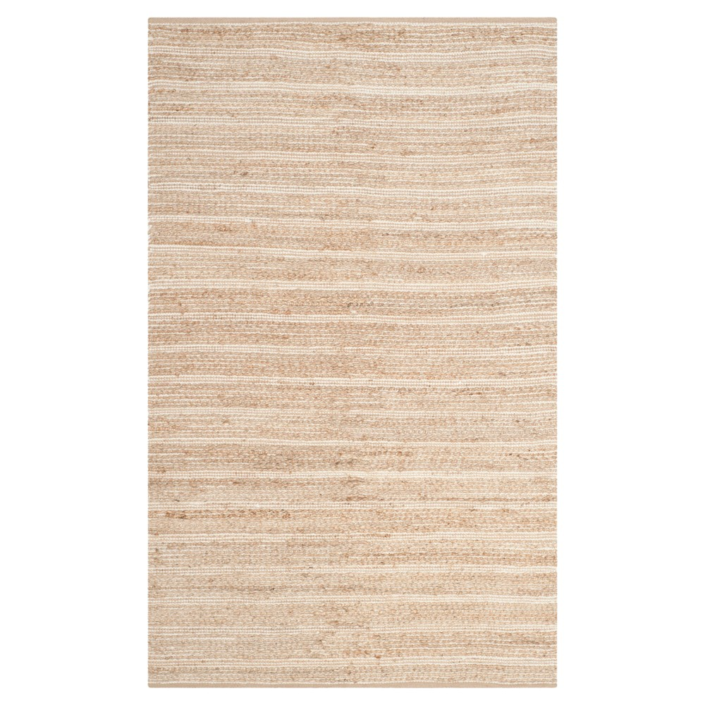 Natural/Ivory Stripe Woven Area Rug - (5'X8') - Safavieh