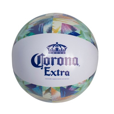 """Northlight 20"""" Corona Tropical Blue and Green Inflatable Beach Ball"""