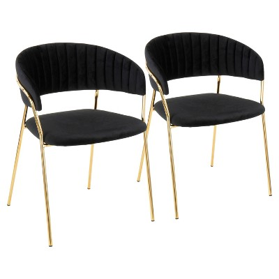 Set Of 2 Tania Contemporary Glam Chairs   LumiSource
