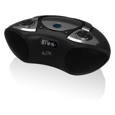 iLive Audio Bluetooth CD Boombox with FM Tuner - Black (IBC233B)